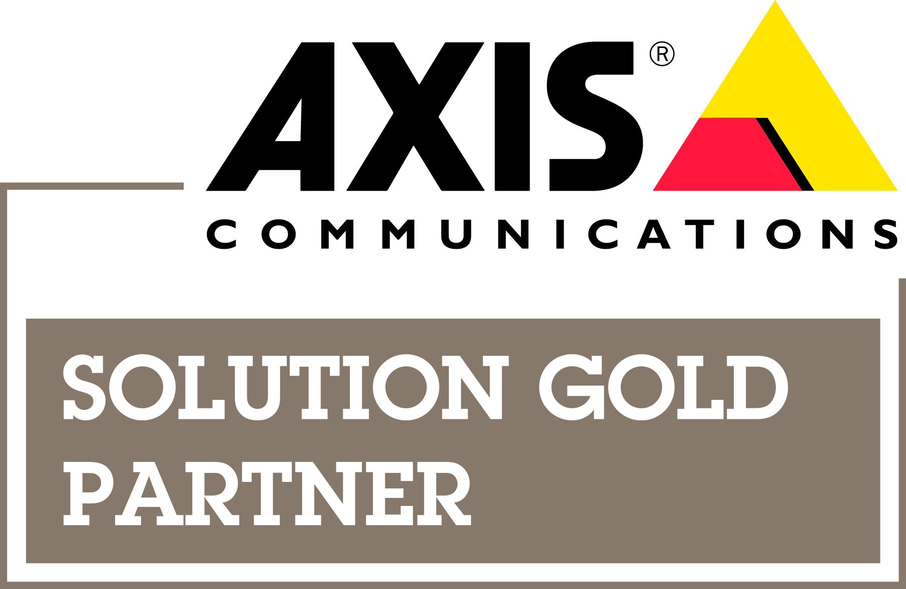 Logo Axis Solution Gold | expertus Sicherheits-Systemhaus